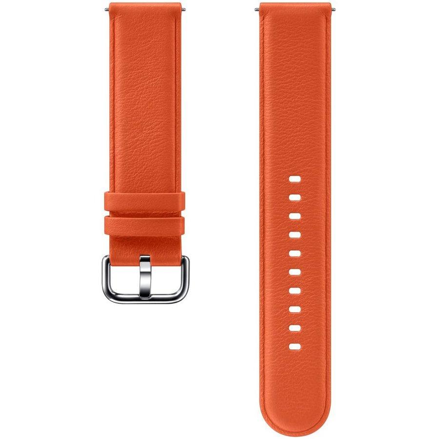 Curea Smartwatch Galaxy Watch Active 2 Leather Orange thumbnail