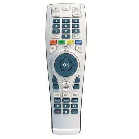 Telecomanda universala HOME 4 in 1 pentru TV sat DVD VCR Gri