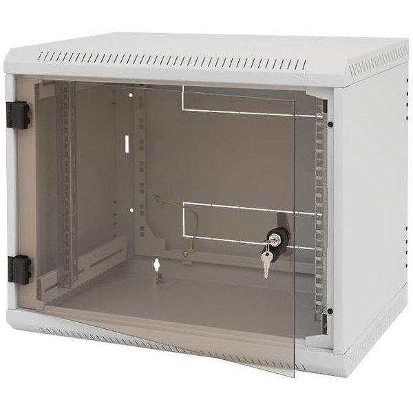 Rack de perete Sectiune simpla 12U 600mm Securizare cu cheie IP 30 Gri thumbnail