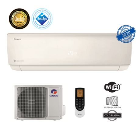 Aparat aer conditionat Gree GWH24AAD-K6DNA4A Gama Bora A4 Silver Racire 22000 BTU Incalzire 22500 BTU Clasa A++ Wi-Fi Alb