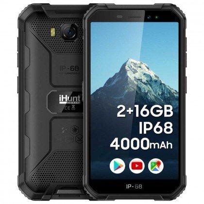 Telefon mobil S10 Tank 2020 Dual SIM IP68 IPS HD Ro-Alert activ din fabrica Negru