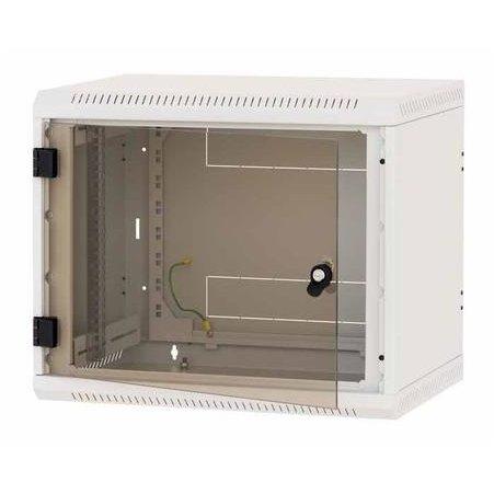 Rack de perete sectiune simpla 15U 600mm adancime Panouri laterale fixe IP30 Gri thumbnail