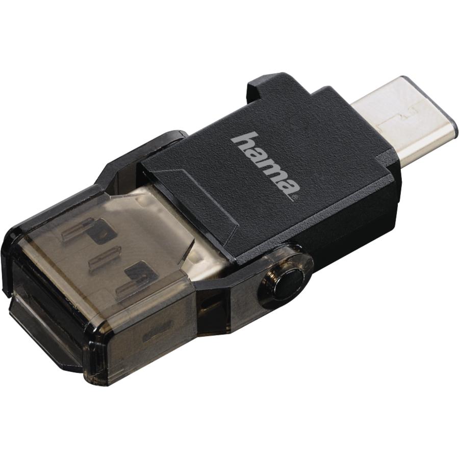 Cititor de carduri OTG USB 3.1 Tip C + USB 3.0 Tip A microSD Negru