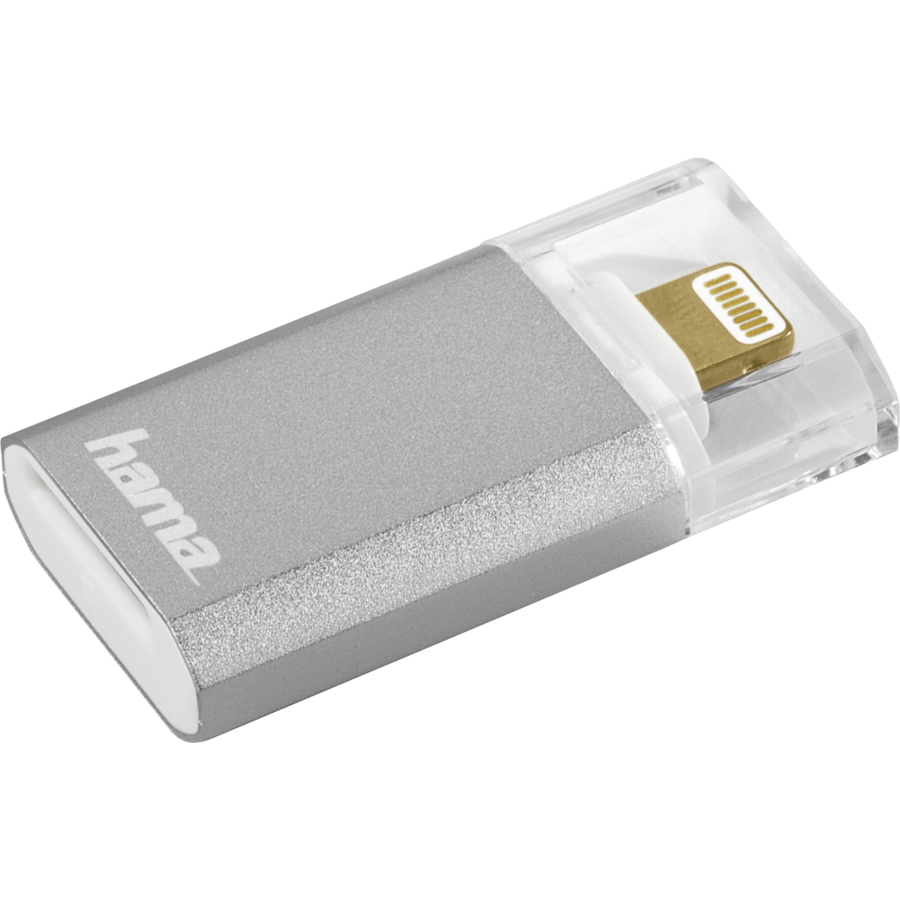 Cititor de carduri Lightning Save2Data mini microSD Argintiu