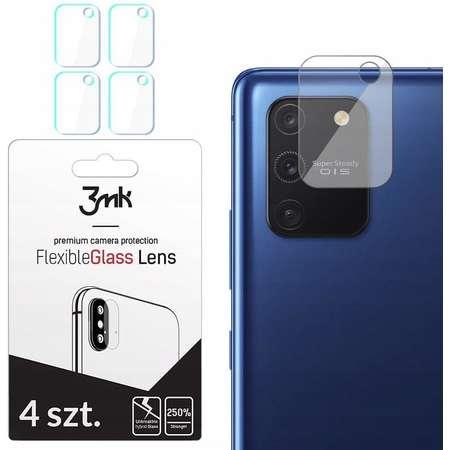 Folie protectie camera foto 3MK Flexible Glass Samsung Galaxy S10 Lite 4-Pack