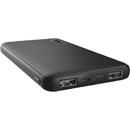 23595 10000mAh 2x USB 1x USB-C Black