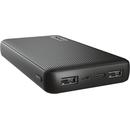 23594 15000 mAh 2x USB 1x USB-C Black