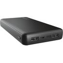 23593 20000mAh 2x USB 1x USB-C Black