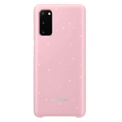 Husa Protectie Spate Samsung Galaxy S20 G980/G981 LED Cover Pink