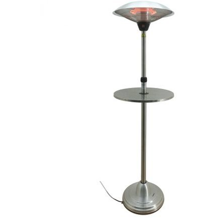 Incalzitor electric VITG008 2100W 3 trepte de putere Lampa dubla cu halogen Inaltime reglabila 1.60m-2.05m Gri thumbnail