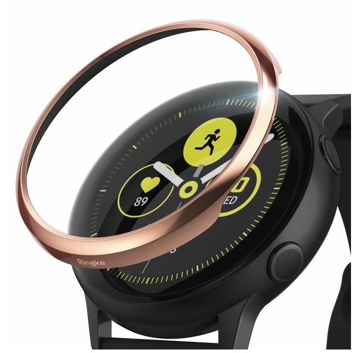 Rama ornamentala otel inoxidabil Rose Gold pentru Samsung Galaxy Watch Active