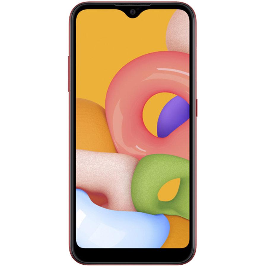 Smartphone Galaxy A01 A015FD 16GB 2GB RAM Dual Sim 4G Red