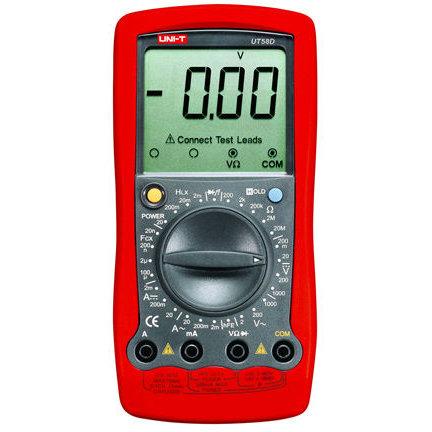 Multimetru digital UT58D Tensiune DC/AC Curent DC/AC Testare diode Masurare continuitate Masurare factor amplificare tranzistoare Rosu thumbnail