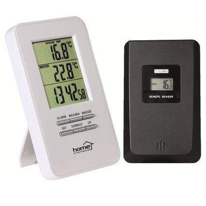 Termometru HC11 Cu ceas Afisare temperatura exterior interior Alb thumbnail