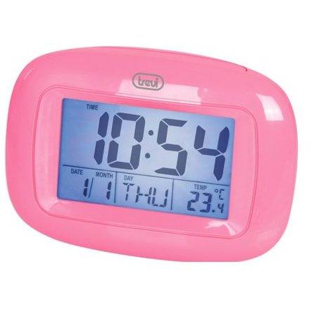 Mini Statie Meteo TRE00057 cu ceas SLD 3016 Alarma programabila Roz thumbnail