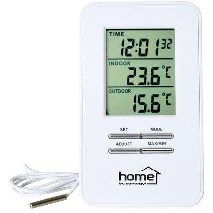 Statie meteo digitala HC12 Interior si exterior Ceas cu alarma inclus Alb thumbnail