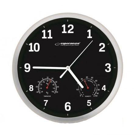 Ceas de perete EHC016K Lyon cu termometru si higrometru Diametru 25 cm thumbnail