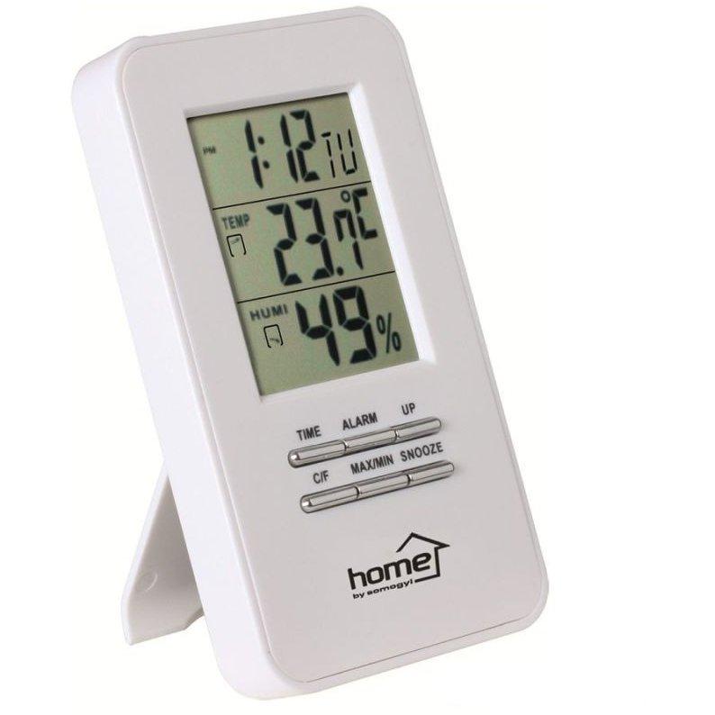 Ceas HC13 cu termometru si higrometru Alarma Alb thumbnail