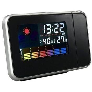 Ceas KH-0123 LED cu proiector ora Higrometru Termometru Calendar Alarma LCD 3.7 inch Negru thumbnail