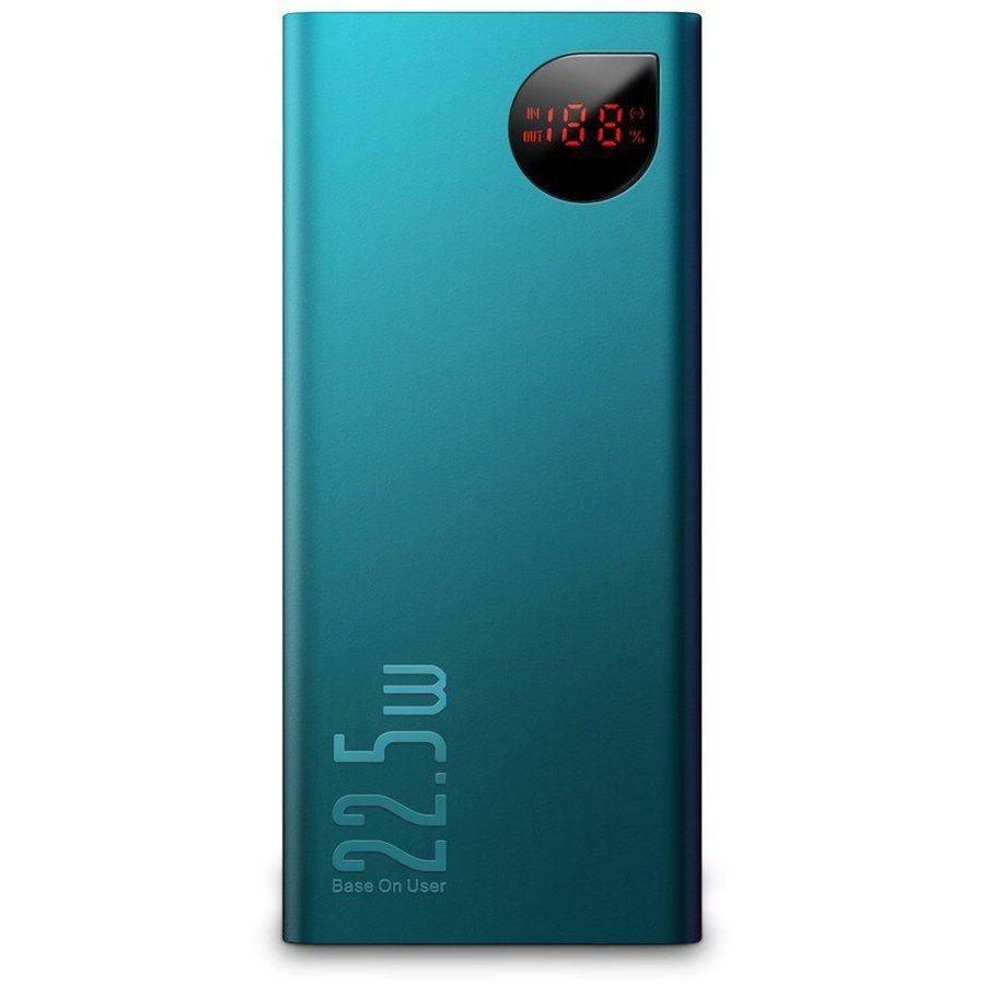 Baterie externa portabila Power Bank Adaman 10000 mAh Power Delivery / Quick Charge 3.0 Green