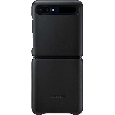 Husa Protectie Spate Samsung Bloom Leather Cover Black pentru Galaxy Z Flip