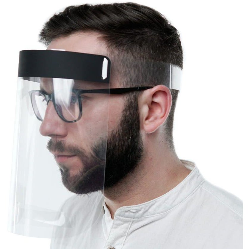 Viziera protectie fata Protective Helmet Reglabila Policarbonat Transparenta