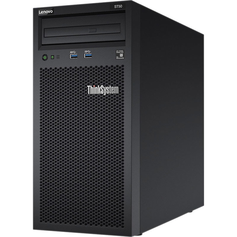 Server ThinkSystem ST50 Intel Xeon E-2144G 8GB DDR4 2x1TB HDD 250W Slim DVD-RW