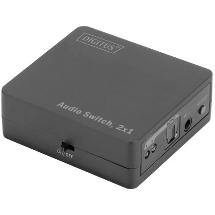 Switch KVM DS-40135 2xToslink - 1xToslink Black