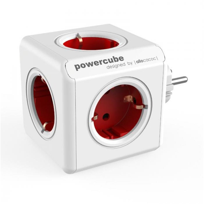 Stecher 5 prize tip Schuko PowerCube 1100RD Original Red