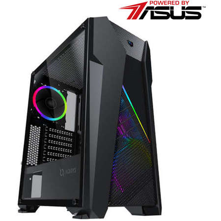 Sistem desktop Rogue V2 Powered by ASUS Intel Core i7-9700K Octa Core 3.6 GHz 32GB RAM DDR4 nVidia GeForce RTX 2080 SUPER EVO O8G V2 8GB GDDR6 256bit SSD 500GB M.2 + HDD 2TB Free Dos Black