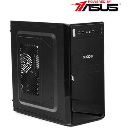 Sistem desktop Office V4 Powered by ASUS Intel Pentium Gold G5400 Dual Core 3.7 GHz 8GB DDR4 Intel UHD 630 SSD 240GB + HDD 1TB DVD-RW Free DOS Black
