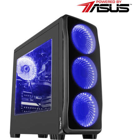 Sistem Gaming Powered by ASUS Force One Intel Core  i5-9400F Hexa Core 2.9 GHz 16GB RAM DDR4 Asus nVidia GeForce GTX 1660 Phoenix O6G 6GB GDDR5 192bit SSD 480GB + HDD 1TB Free DOS Black
