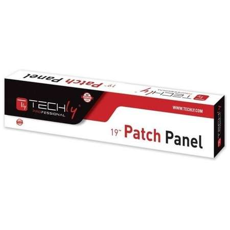 Patch Panel TECHLY PRO UTP 1U 16 porturi Cat5e Black