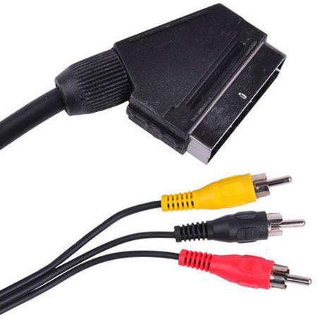 Cablu Generic Scart - 3x RCA 1.5m Black