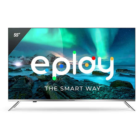 Televizor Allview LED Smart TV 55ePlay6100-U 139cm Ultra HD 4K Silver