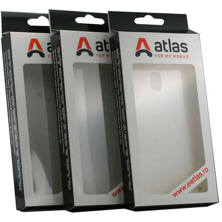 Husa Protectie Spate Atlas Invisible pentru LG K40 Transparent