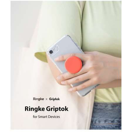 Suport Stand Universal Ringke Griptok pentru smartphone Portocaliu Coral