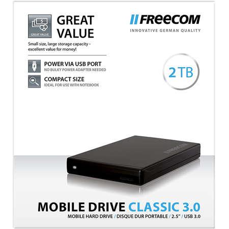 Hard disk extern Freecom Mobile Drive Classic 2TB 2.5 inch USB 3.0 Black