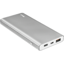 Acumulator extern Trust Omni Thin Metal Powerbank 10000 mAh Grey