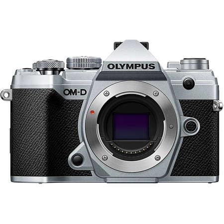 Aparat foto Mirrorless Olympus E-M5 Mark III 20.4 Mpx Silver Kit M.ZUIKO DIGITAL ED 12-200mm F3.5-6.3 Black