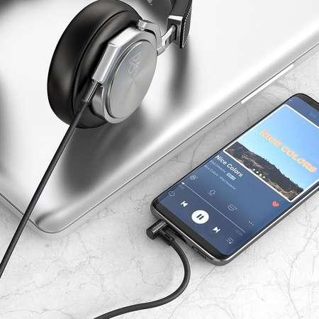 Cablu Audio Mcdodo Diamond Series Right Angle Jack 3.5mm Negru