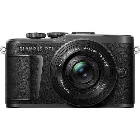 Aparat foto Mirrorless Olympus E-PL10 Pancake Zoom Kit Black 14-42mm Black