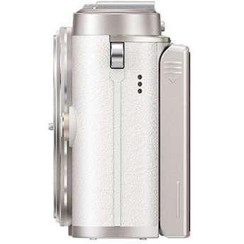 Aparat foto Mirrorless Olympus E-PL10 Pancake Zoom Kit White 14-42mm Silver