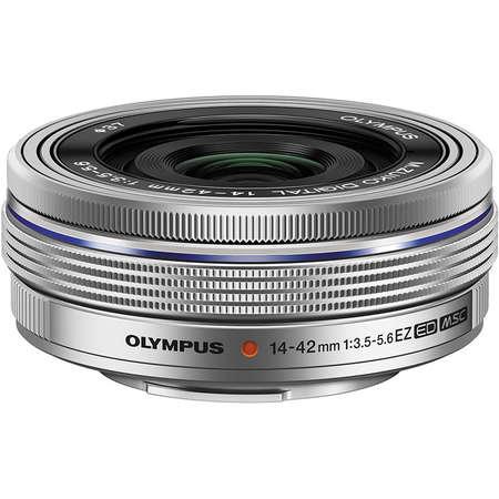 Aparat foto Mirrorless Olympus E-PL9 Pancake Zoom Kit White 14-42mm Silver