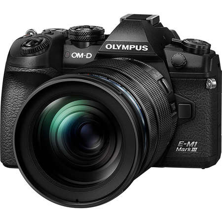 Aparat foto Mirrorless Olympus E-M1 Mark III 20.4 Mpx Black Body M.Zuiko ED 12-100mm PRO Black