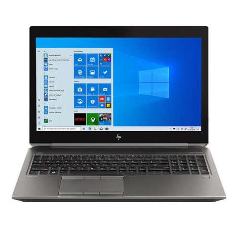 Laptop HP Zbook 15 G6 15.6 inch FHD Intel Core i7-9850H 16GB DDR4 1TB HDD 512GB SSD nVidia Quadro T2000 4GB FPR Windows 10 Pro Dark Ash