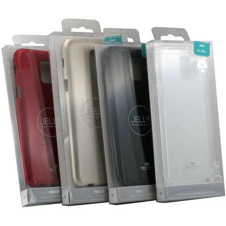 Husa Protectie Spate Mercury Jelly pentru Samsung A51 Negru