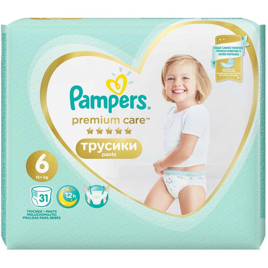 Scutece Premium Care Pants 6 Value Pack 31 buc