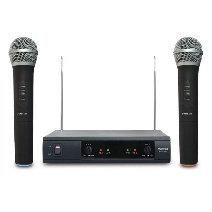 Set 2 Microfoane MSH-206 Wireless Negru