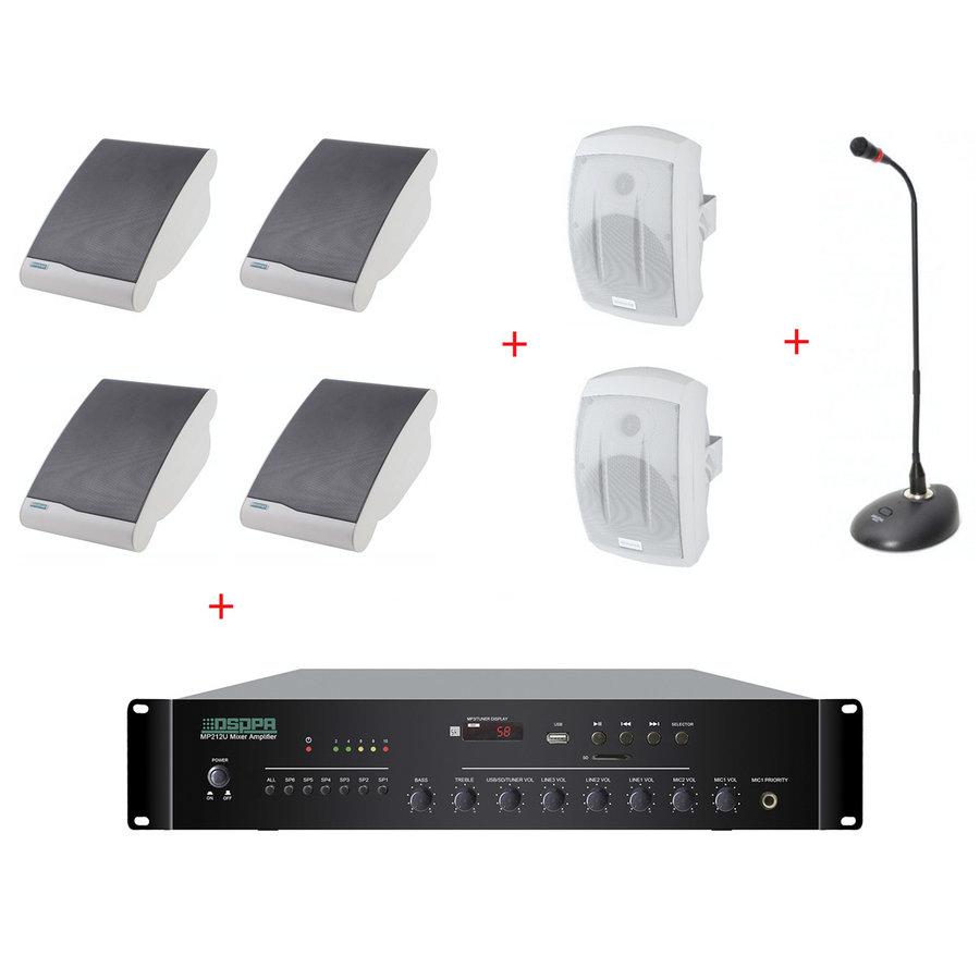 Pachet Sonorizare Biserica 120W Interior / Exterior cu Microfon de masa